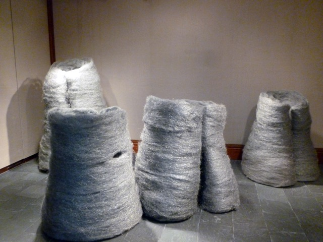 Amy Larimer, Grieving coats, steel wool, 3'x4'x4' to 5'x5'x6'