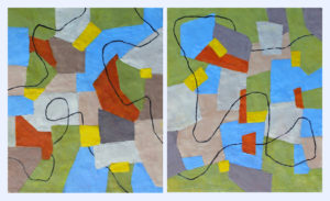 A Journey in Part diptych: each 24 x 20